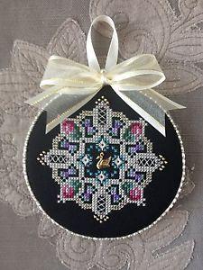 Finished Cross Stitch Ornament Just Nan Swan Lake