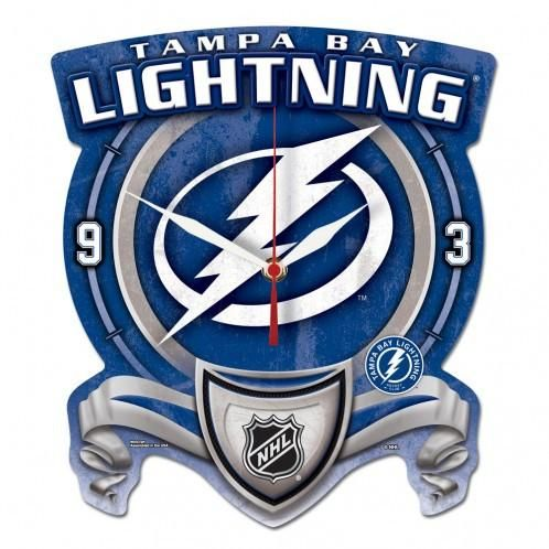Tampa Bay Lightning High Def Plaque Style wall Clock