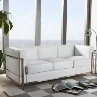 Shop for Mason White Leather Sofa. Get free shipping at Overstock.com - Your Online Furniture Outlet Store! Get 5% in rewards with Club O!
