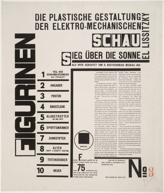 El Lissitzky '[title page]', 1923