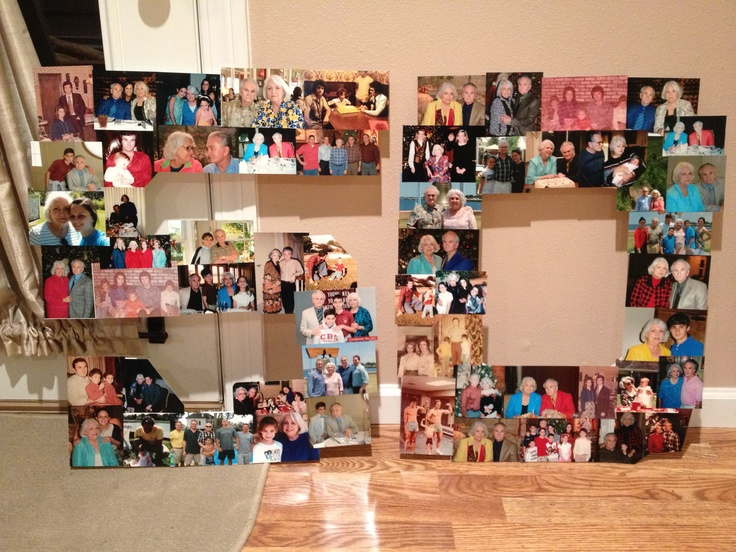 Picture collage for 50th wedding anniversary party 50th