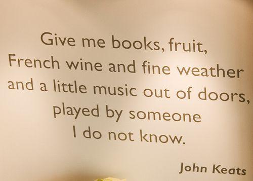 keen on keats