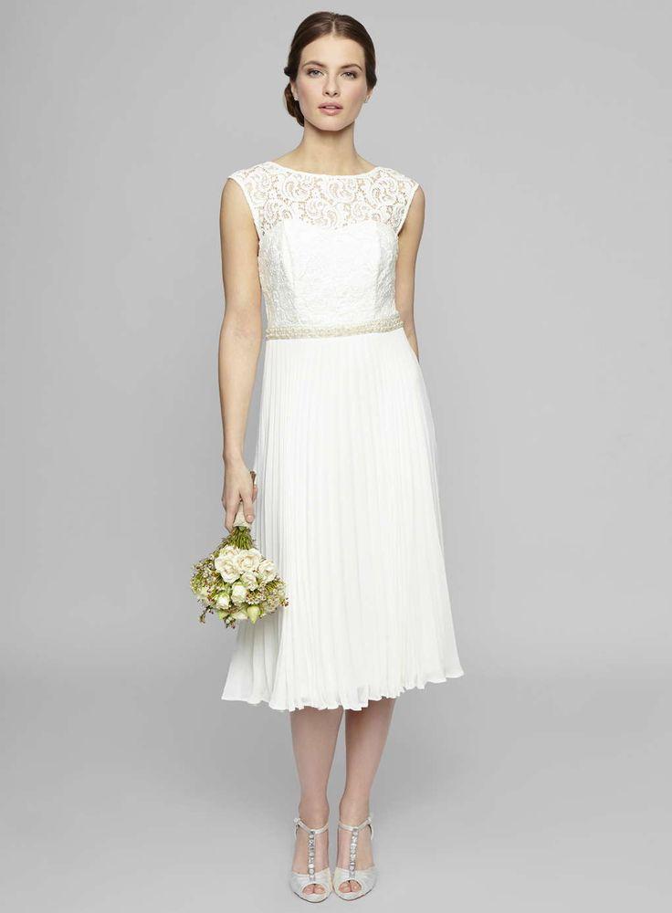 Ivory Louisa Lace Pleat Wedding Dress http://www.weddingheart.co.uk/bhs--wedding-dresses.html