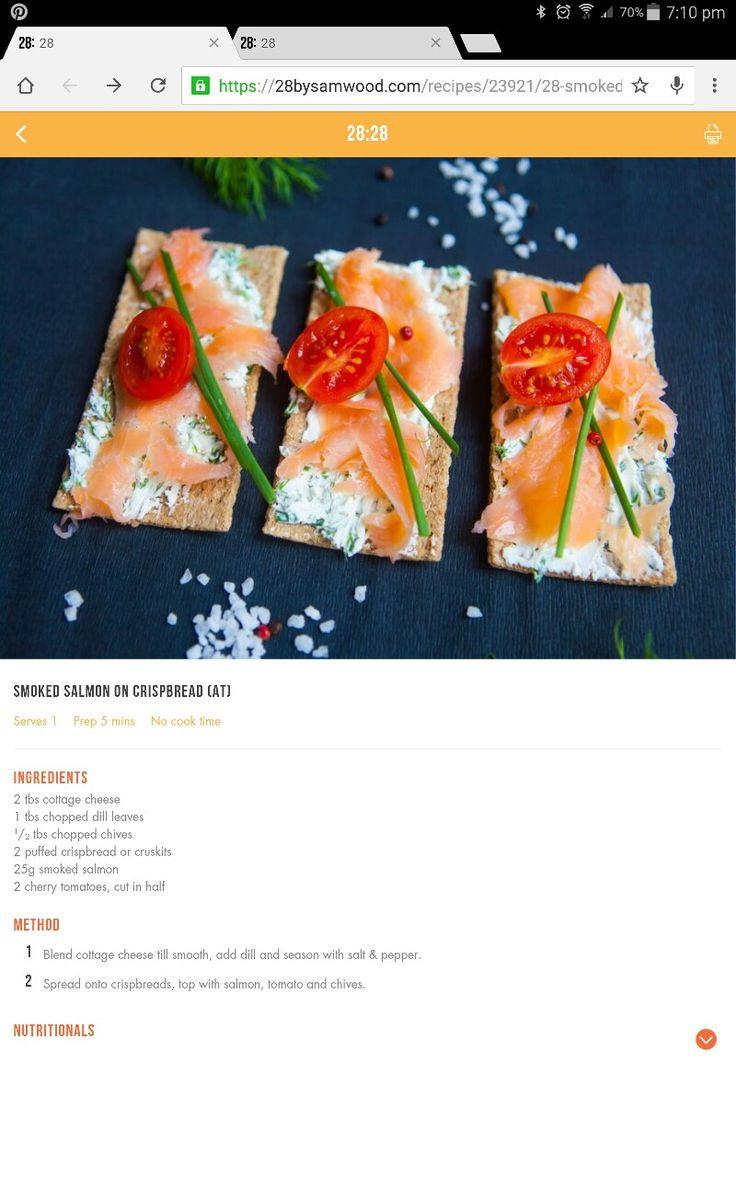 Smoked salmon cruskits