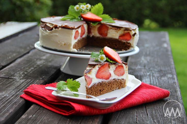 V kuchyni vždy otevřeno ...: Tvarohový dort Míša s jahodami