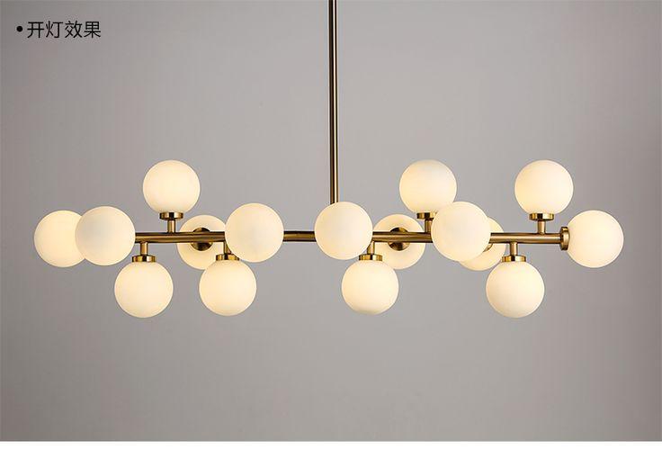 Creativo oro lámpara colgante de cristal moderno comedor chandelier light fixture luminaria de suspensión g4x16 led ac 85 265 v en Luces colgantes de Luces e Iluminación en AliExpress.com | Alibaba Group