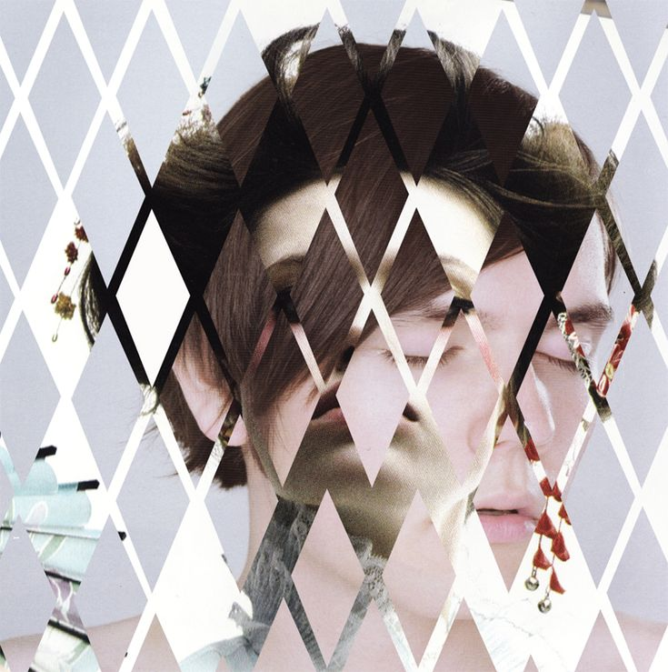 ZOE WEIR self portraits. 2 images one cut and collaged on top?