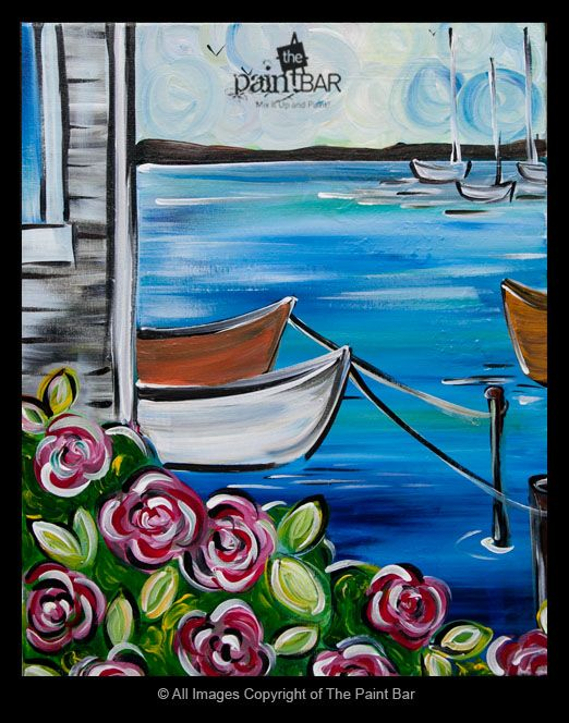 Cape Roses by the Water Painting - Jackie Schon, The Paint Bar