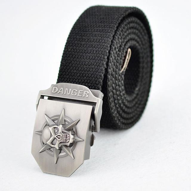 Fashion Mens Canvas Belt Buckle