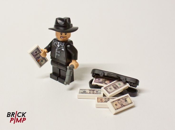 Dollar notes sticker for lego tiles and bricks on www brick pimp com