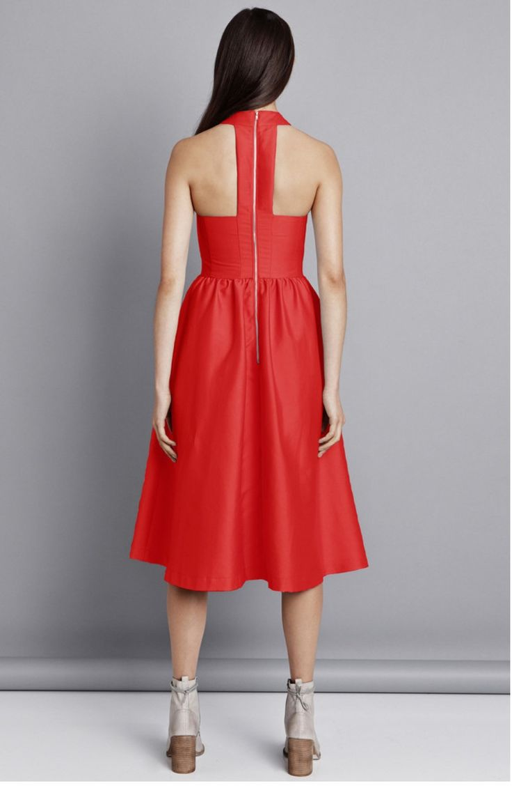 Pink Stitch - Ps The Label Last Word Dress - Scarlet