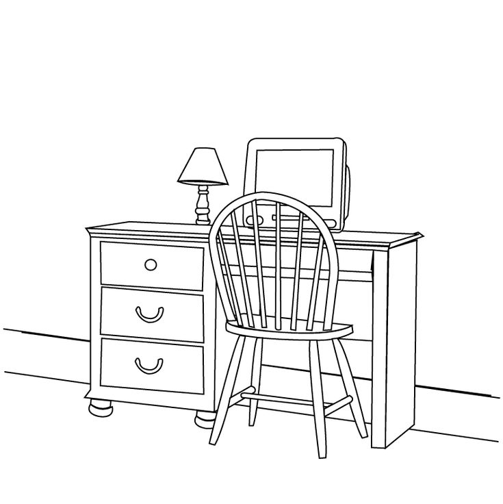 home furniture coloring pages - photo#13