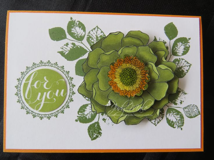 Stampin' Up! Blended Bloom  Kinda Eclectic Hello There  Blendabilities