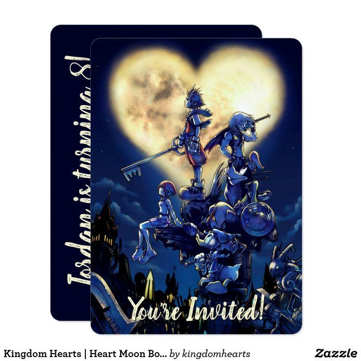 Cœurs du royaume   Invitation d'art de boîte de lune de coeur   Zazzle.com   – Personalize your Disney