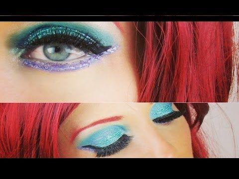 The Little Mermaid Ariel Halloween Makeup Tutorial - YouTube