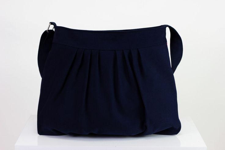 $  Dark Blue Navy Blue Pleated Bag Washable Bag Handmade Purse Long Adjustable Strap Fully Lined Crossbody Bag Shoulder Bag Purse Canvas Bag by hippirhino         #Diaperbag  #Diaperbag  #stylish  #special  #minimalist  #shop  #etsy  #Shoulderbag  #laptopbag