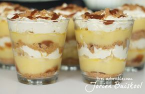 vanillie banaan stroopwafel caramel toetje