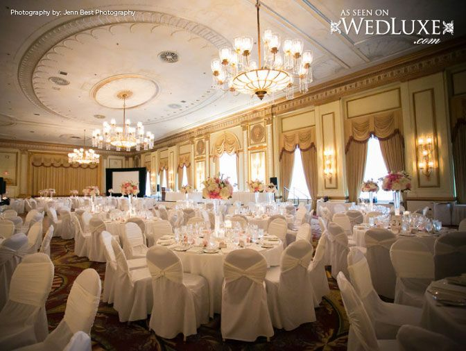 Ballroom Ready For Guests To Arrive Chuah Fairmont Hotel Vancouver Photography Jenn Best Via WedLux