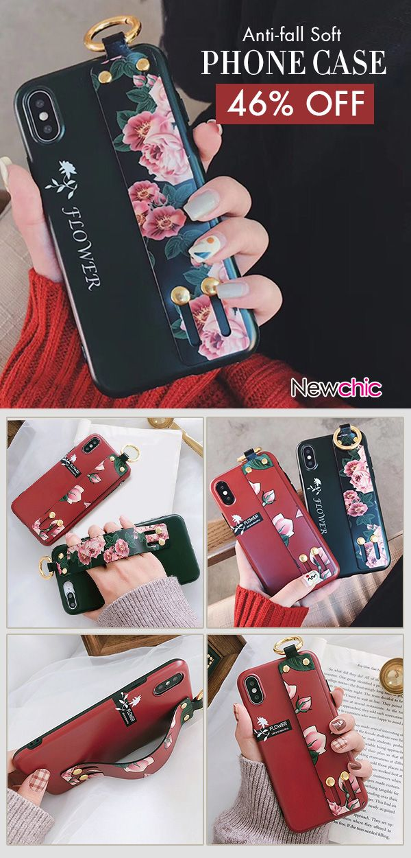 Women Simple Print Flower TPU Soft Back Cover iPhone Phone