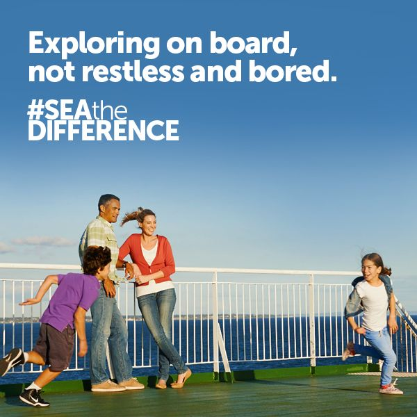 Exploring on board, not restless and bored.