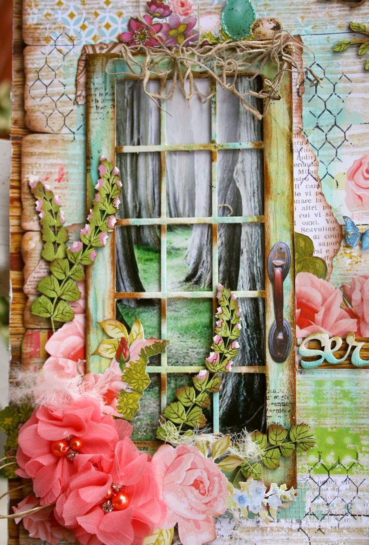 Scrapbook ideas with flowers - Scrapbook Layouts