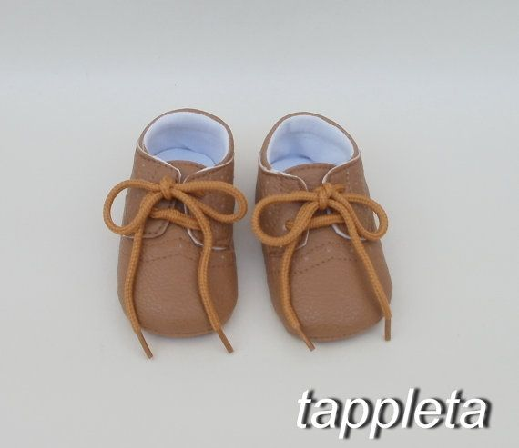 beige Shoes, First Shoes, 3-6 Months, baby Moccasins, Baby Moccs, Infant Soft Sole, Oxford Bootie, babyshower gift, baptism, baby boy