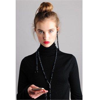 Kulaklık Kolye Fashion Lacivert