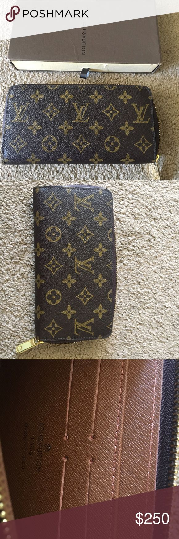 Louis Vuitton Zippy Monogram Wallet Louis Vuitton Monogram Zippy Wallet , in great condition. I have used it for about 4 months . I just switches to the black and gray checkered set so hope someone would get to enjoy this :) Louis Vuitton Bags Wallets