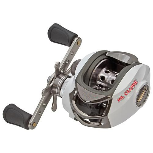 "Mr.Crappie Slab Daddy Baitcast Reel - 6.3:1 Gear Ratio, 10 lb 175 Yards Line Capacity, Boxed Outdoor Store Mr.Crappie Slab Daddy Baitcast Reel – 6.3:1 Gear Ratio, 10 lb 175 Yards Line Capacity, Boxed Manufacture ID: MC1HSD Mr. Crappie Slab Daddy Reels give you great performance at great savings, built to ""Mr. Crappie"" Wally Marshall's specifications. Features: – One-piece, lightweight, graphite frame and side-plates –…"