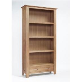 Cambridge Oak Large Bookcase CO2113  www.easyfurn.co.uk