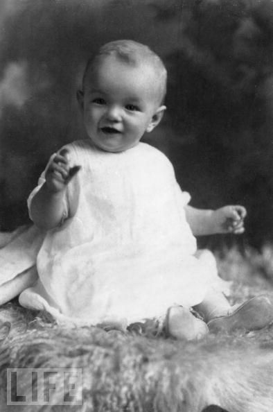 Baby picture of Marilyn Monroe