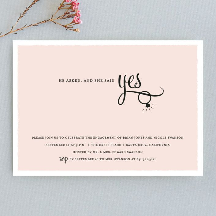 Gold Foil Engagement Card  You/'re Like Super Engaged