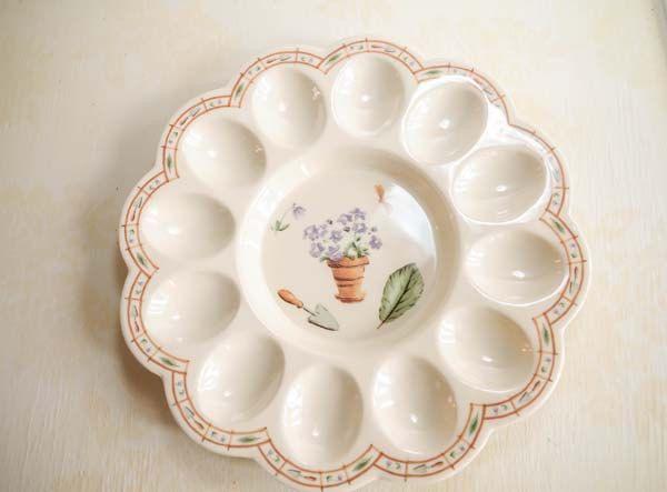 Vintage Eurita Melamine Easter Egg Plate by Reston Lloyd, Deviled Egg Platter,Garden Party, Melamine Plate, Easter,Spring Plate by HenAndChicksPrints on Etsy https://www.etsy.com/listing/182415797/vintage-eurita-melamine-easter-egg-plate