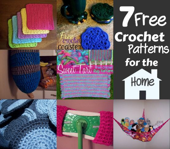 7 Free Crochet Patterns For The Home