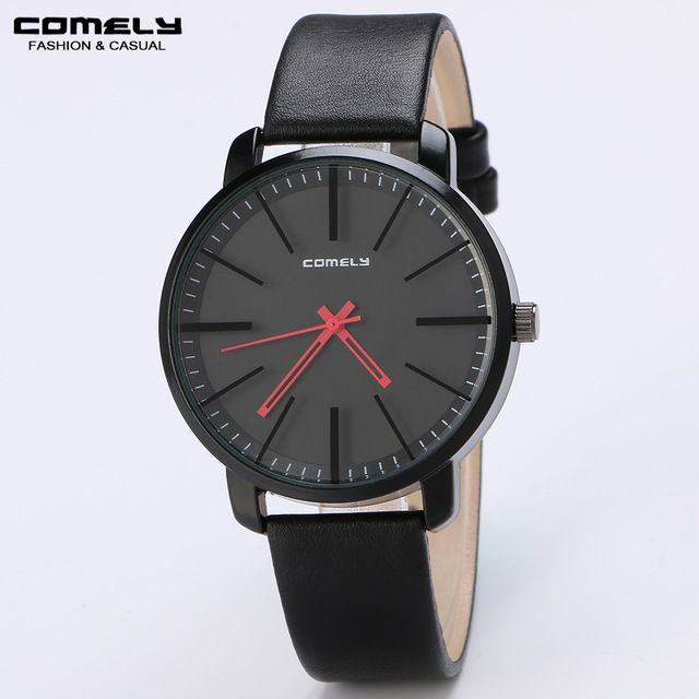 Check lastest price COMELY new Simple quartz watch men's Genuine leather strap fine quality watches fashion business casual sports watch cheap gift just only $14.36 with free shipping worldwide  #menwatches Plese click on picture to see our special price for you