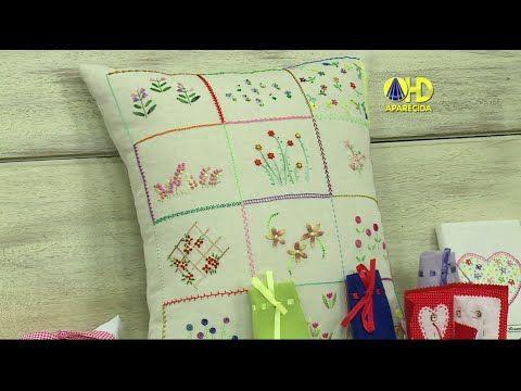 Vida com Arte   Almofada Bordada por Rosana Pardo - 22 de Agosto de 2014 - YouTube