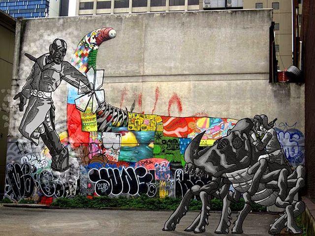 James Mathurin Art: Melee in Melbourne