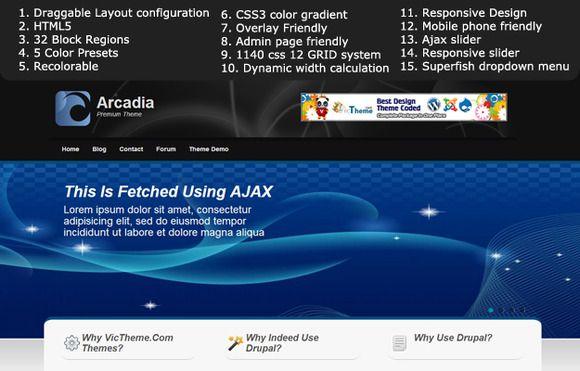 Check out Arcadia Premium Drupal 7 Theme by VicTheme on Creative Market