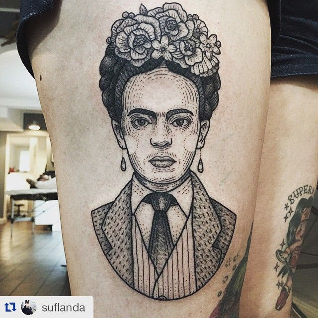 I'm in LOVE!! this, in my opinion is one of the best frida tattoos that I've…