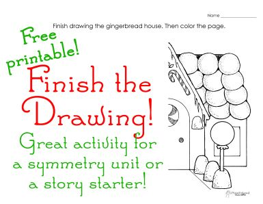 squarehead teachers finish the drawing holiday activity for kids free printable