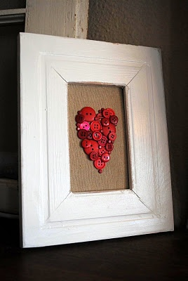 Heart button art