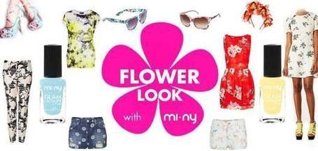 FLOWER LOOK WITH MI-NY! #nails #nailpolish #naillacquer #flower #summer #glam #look #fashion #style #pastel #miny #minycosmetics