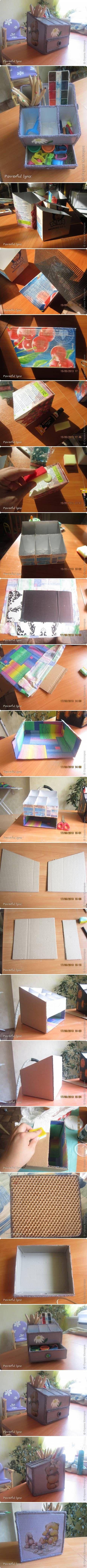 DIY Beautiful Desk Organizer DIY Beautiful Desk Organizer
