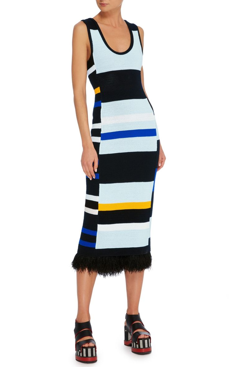 Striped Crochet Tank Dress by Proenza Schouler | Moda Operandi
