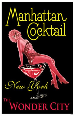 Manhattan Cocktail, NYC Poster