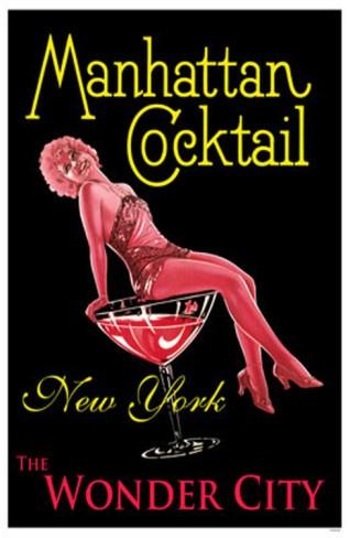 Manhattan Cocktail, NYC Poster