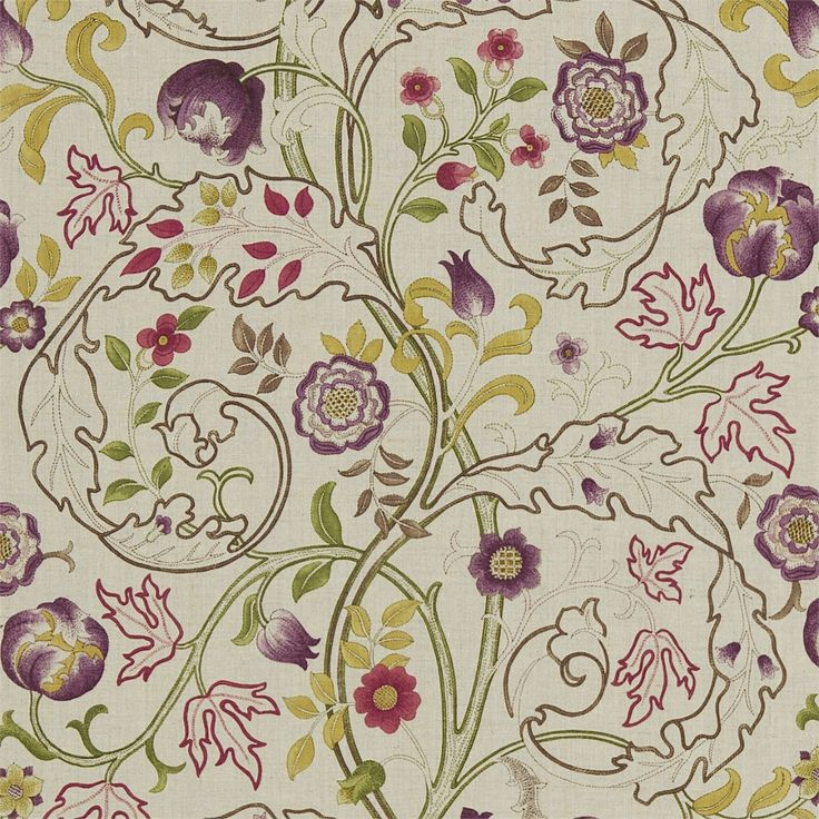 Best Green PurpleDesignPatternCombination Images On - Arts and crafts fabric patterns