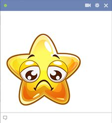 If you read a post or comment on Facebook that you don't like, you can share this frowny star on Facebook.