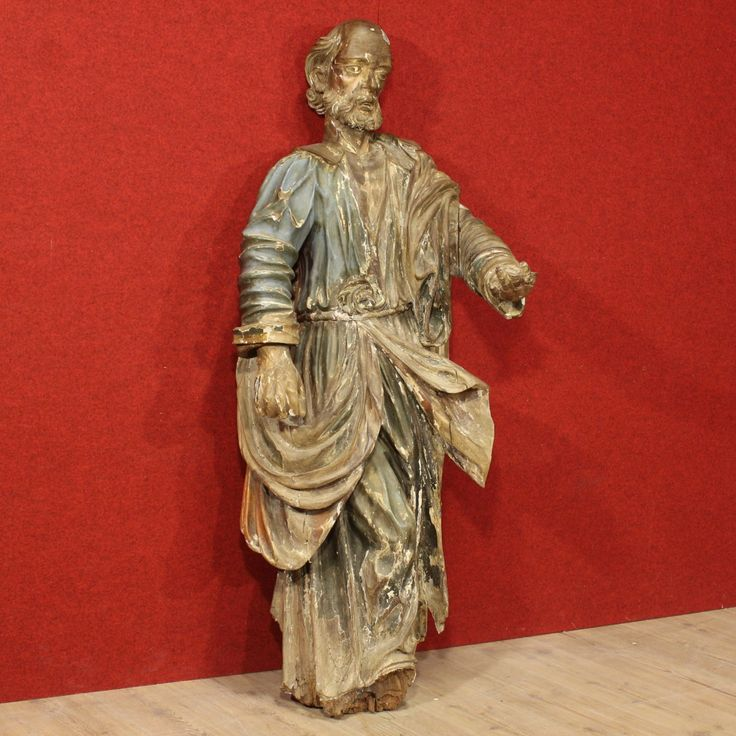 Italian sculpture in painted wood of the eighteenth century. Visit our website www.parino.it