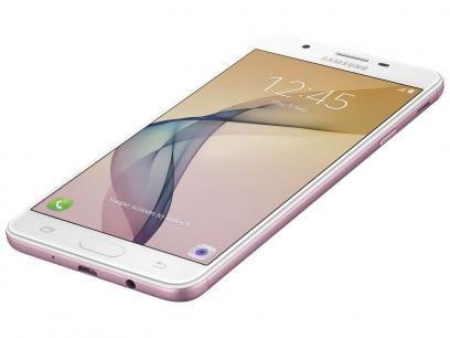 """Smartphone Samsung Galaxy J7 Prime 32GB Rosa - Dual Chip 4G Câm 13MP + Selfie 8MP Flash Tela 5.5"""" com as melhores condições você encontra no Magazine Jsantos. Confira!"""